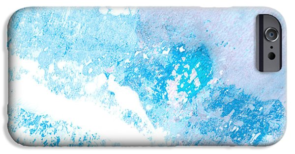 Aquatic Mixed Media iPhone Cases - Blue Splash iPhone Case by Ann Powell