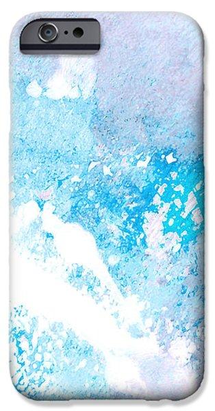 Blue Splash iPhone Case by Ann Powell