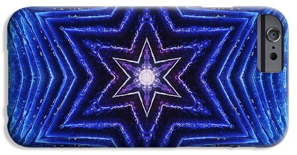 Shape iPhone Cases - Blue Stars iPhone Case by Cindi Ressler