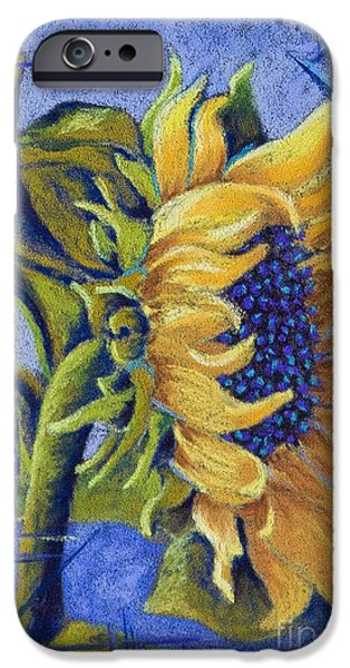 Gold Pastels iPhone Cases - Blue Sunshine iPhone Case by Tracy L Teeter