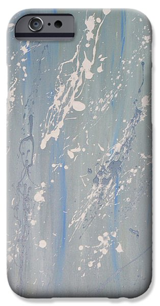 Painter Photo Mixed Media iPhone Cases - Blue Sushi iPhone Case by Jimi Bush