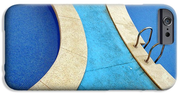Abtracts iPhone Cases - Blue Swimming Pools iPhone Case by Patrick Dinneen