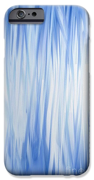 Abstract Digital iPhone Cases - Blue Swoops Vertical Abstract iPhone Case by Andee Design