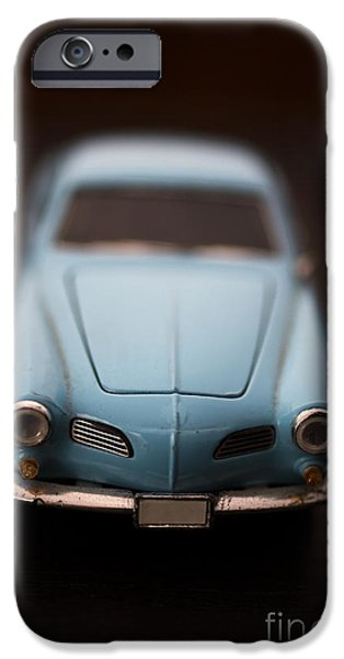 Karma iPhone Cases - Blue Toy Car iPhone Case by Edward Fielding