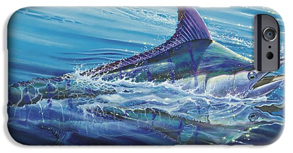 Vikings Paintings iPhone Cases - Blue Tranquility Off0051 iPhone Case by Carey Chen