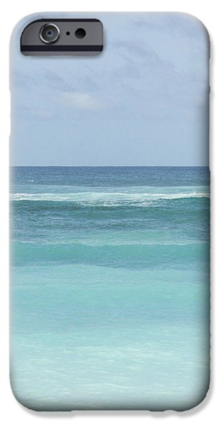 Ocean Photos iPhone Cases - Blue Turquoise Teal Beach Gradient Photo Art Print iPhone Case by Ocean Photos