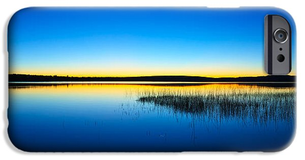 Downeast iPhone Cases - Blue Twilight Panorama iPhone Case by Bill Caldwell -        ABeautifulSky Photography