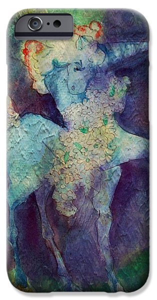 Unicorn Art iPhone Cases - Blue Unicorn iPhone Case by Mindy Newman