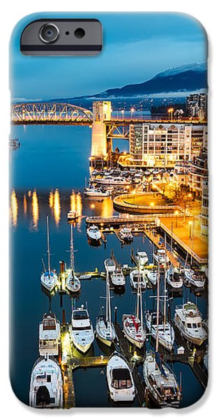 Blue Vancouver Morning iPhone Case by James Wheeler
