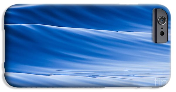Blue Abstracts iPhone Cases - Blue Water Waves Abstract iPhone Case by Dustin K Ryan