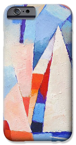 Abstract Seascape iPhone Cases - Blue Winds iPhone Case by Lutz Baar