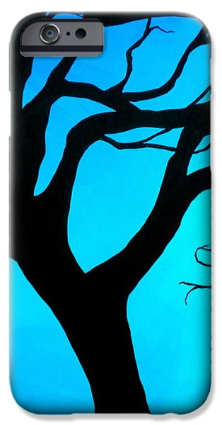 Debi Pople iPhone Cases - Blue Winter iPhone Case by Debi Starr