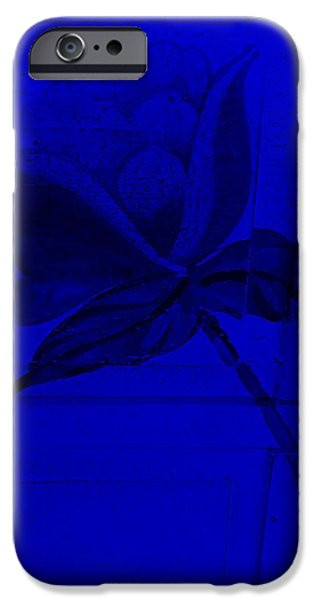 Botanic Illustration Digital Art iPhone Cases - Blue Wood Flower iPhone Case by Rob Hans