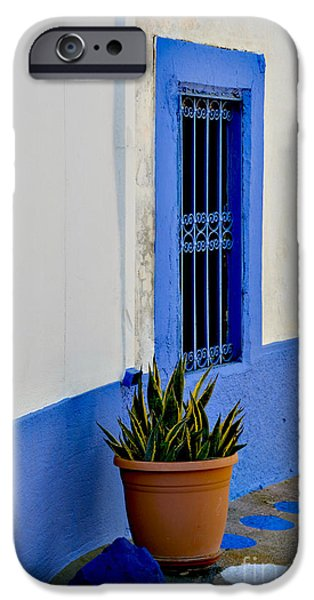 Facade iPhone Cases - Blue Zone iPhone Case by Anna Wacker