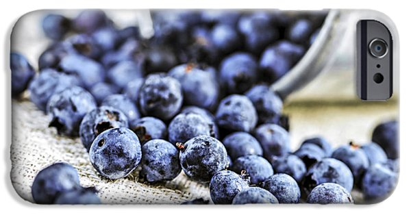 Summer iPhone Cases - Blueberries iPhone Case by Elena Elisseeva