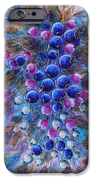 Blueberries iPhone Case by Natalie Holland