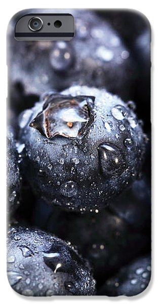 Blueberry Close Up iPhone Case by John Rizzuto