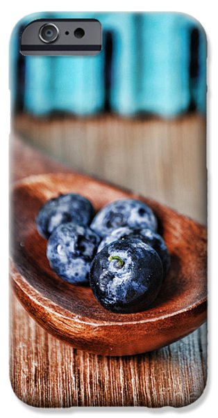 Blueberries iPhone Cases - Blueberry iPhone Case by HD Connelly