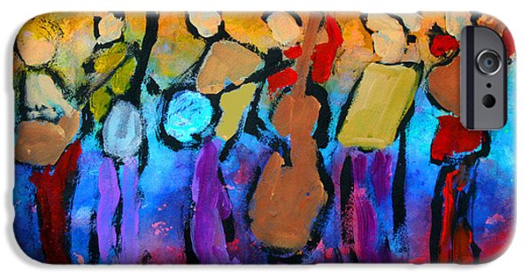 Mordecai Colodner iPhone Cases - Bluegrass Band iPhone Case by Mordecai Colodner