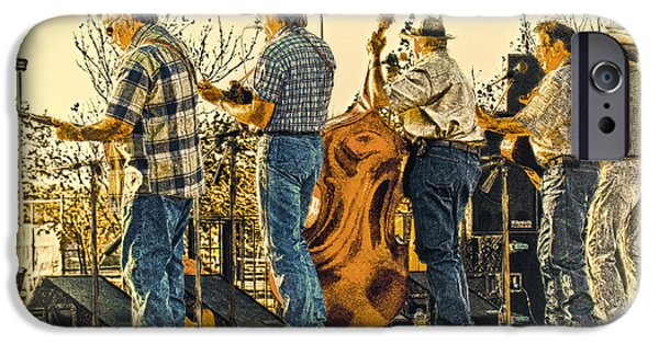 Upright Bass iPhone Cases - Bluegrass Evening iPhone Case by Robert Frederick