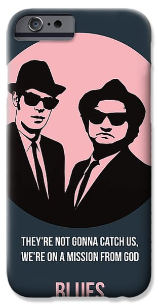 Brother iPhone Cases - Blues Brothers Poster 1 iPhone Case by Naxart Studio
