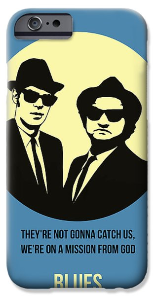 Brother iPhone Cases - Blues Brothers Poster 3 iPhone Case by Naxart Studio