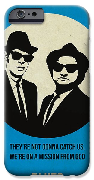Tv Show iPhone Cases - Blues Brothers Poster iPhone Case by Naxart Studio