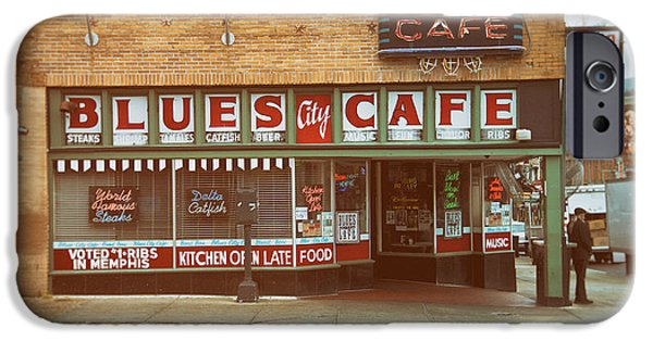 Tennessee Landmark iPhone Cases - Blues City Cafe on Beale Street Memphis iPhone Case by Mary Lee Dereske