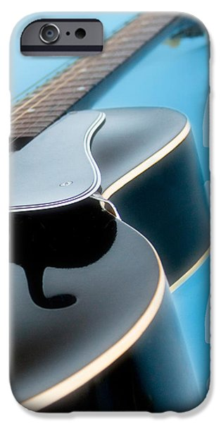 Board iPhone Cases - Blues Guitar iPhone Case by David and Carol Kelly