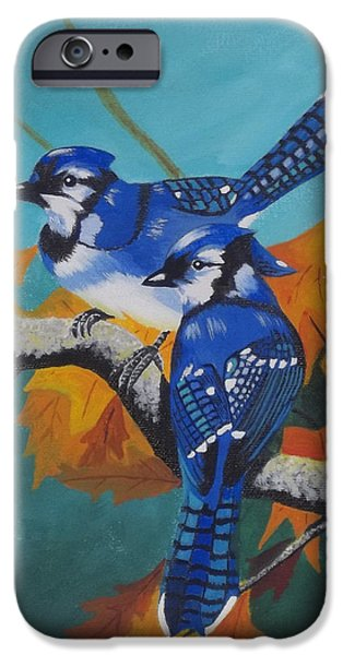 Etc. Paintings iPhone Cases - Blues Hangout iPhone Case by Gregory Murray