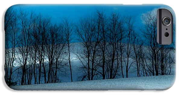 Winter Scene iPhone Cases - BLUES of WINTER iPhone Case by Karen Wiles