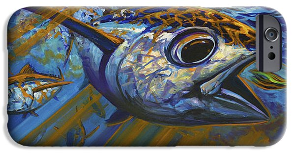 Impressionist iPhone Cases - Bluewater Hellraisers iPhone Case by Savlen Art