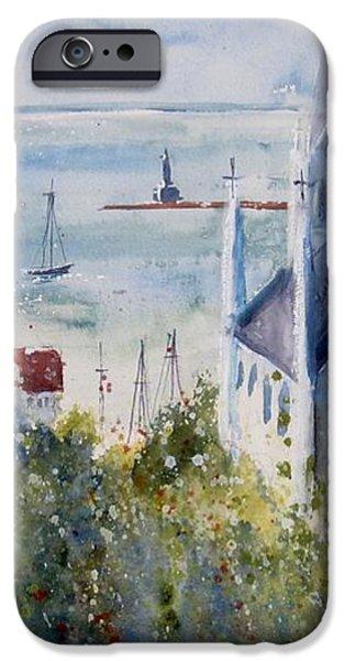 Bluff View St. Annes Mackinac Island iPhone Case by Sandra Strohschein