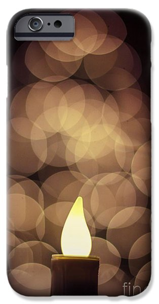 Blurry Pyrography iPhone Cases - Blurred Christmas Tree  iPhone Case by Jeremy  Shusman