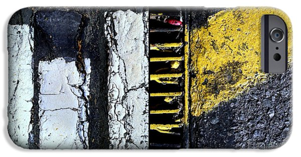 Asphalt iPhone Cases - Blurred Lines Four iPhone Case by Marlene Burns