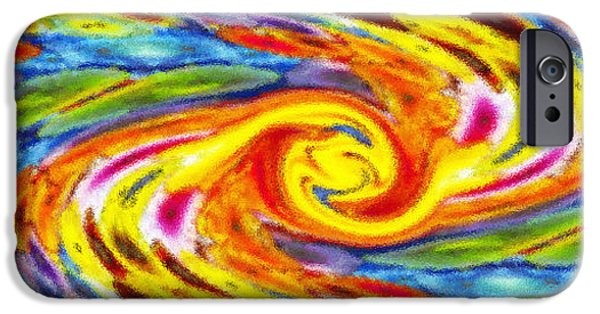 Abstract Forms iPhone Cases - Blurred Swirls iPhone Case by Michael Anthony