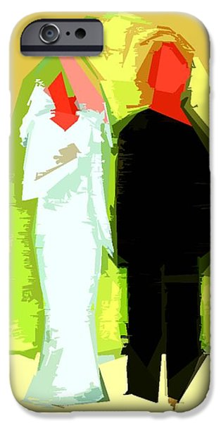 BLUSHING BRIDE AND GROOM 2 iPhone Case by Patrick J Murphy
