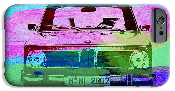 Concept iPhone Cases - BMW 2002 Front Watercolor 1 iPhone Case by Naxart Studio