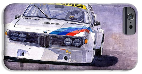Automotive iPhone Cases - Bmw 3 0 Csl 1972 1975 iPhone Case by Yuriy  Shevchuk