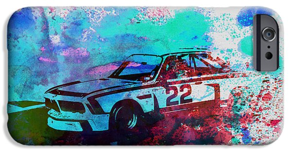 Old Cars iPhone Cases - Bmw 3.0 Csl  iPhone Case by Naxart Studio