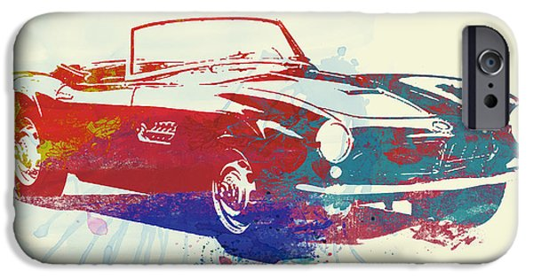 Concept Cars iPhone Cases - Bmw 507 iPhone Case by Naxart Studio