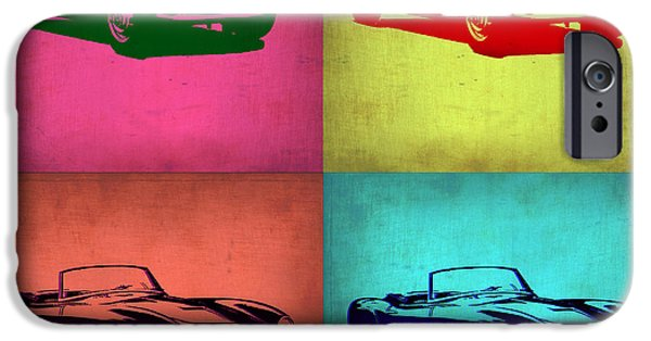 Concept Digital Art iPhone Cases - BMW 507 Pop Art 1 iPhone Case by Naxart Studio