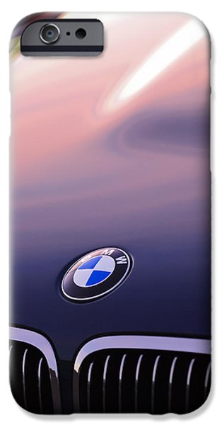 Automotive Photographer iPhone Cases - BMW Hood Emblem iPhone Case by Jill Reger