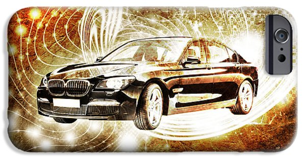 Virtual Digital Art iPhone Cases - Bmw iPhone Case by Isabel Salvador