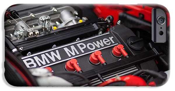 Racing Photographs iPhone Cases - BMW M Power iPhone Case by Mike Reid