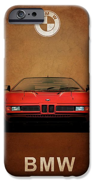 Bmw iPhone Cases - Bmw M1 1979 iPhone Case by Mark Rogan