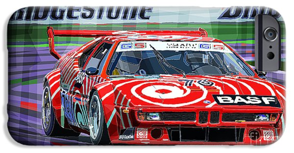 Racing Mixed Media iPhone Cases - Bmw M1 1979 iPhone Case by Yuriy Shevchuk