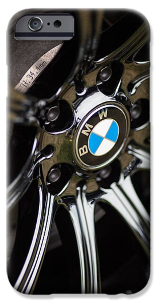 Bmw iPhone Cases - BMW M5 Black Chrome Wheels iPhone Case by Mike Reid