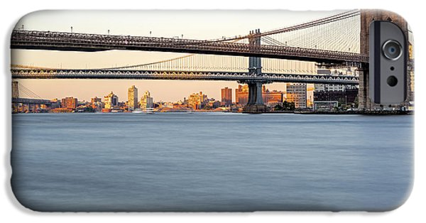 Empire State iPhone Cases - BMW New York City Bridges iPhone Case by Susan Candelario