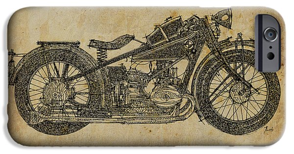 Ink On Paper iPhone Cases - Bmw R47 1927 iPhone Case by Pablo Franchi